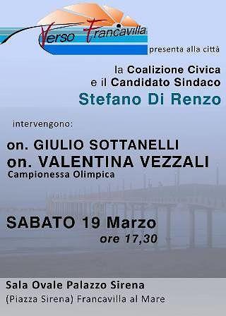 Francavilla, Enrico Zanetti alla presentazione del candidato sindaco Stefano Di Renzo