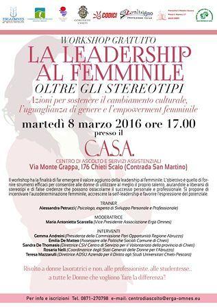 A Chieti il workshop 'La Leadership al femminile, oltre gli stereotipi'