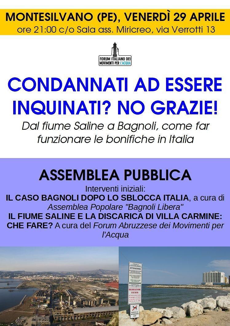 Montesilvano, territori inquinati: l'assemblea pubblica sulla bonifica