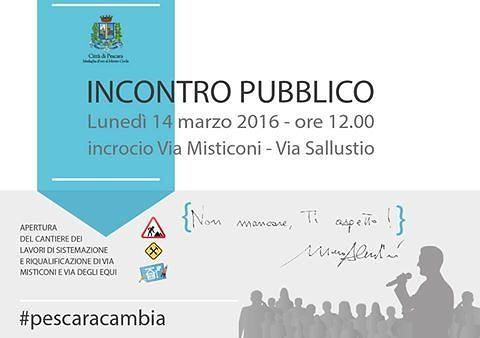 Pescara, lavori antiallagamento via Misticoni: lunedì la presentazione