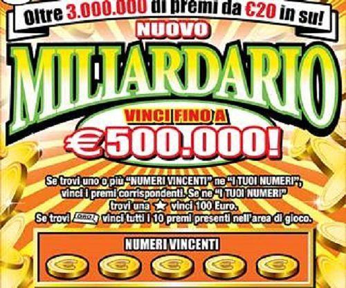 Villamagna, colpo da 500 mila euro al Gratta e Vinci