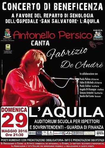 L'Aquila, concerto in favore del reparto di senologia dell'Ospedale San Salvatore