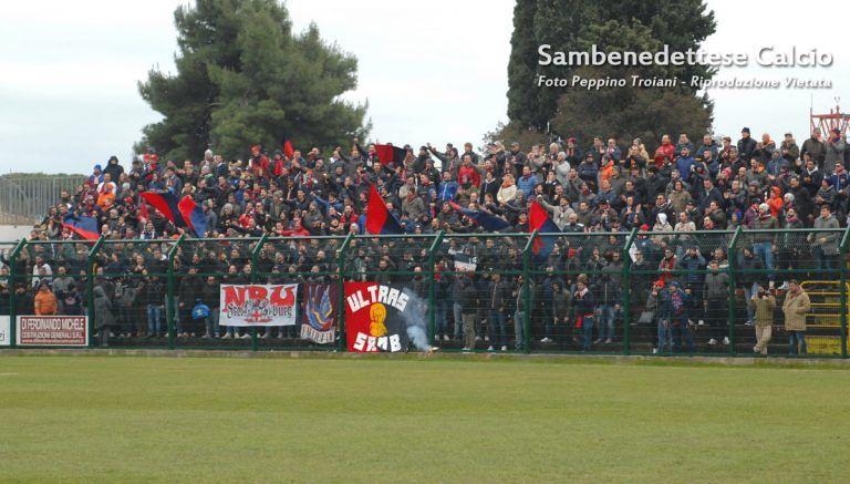 Serie D: dopo la partita a Giulianova tremila euro di multa e gara a porte chiuse per la Sambenedettese