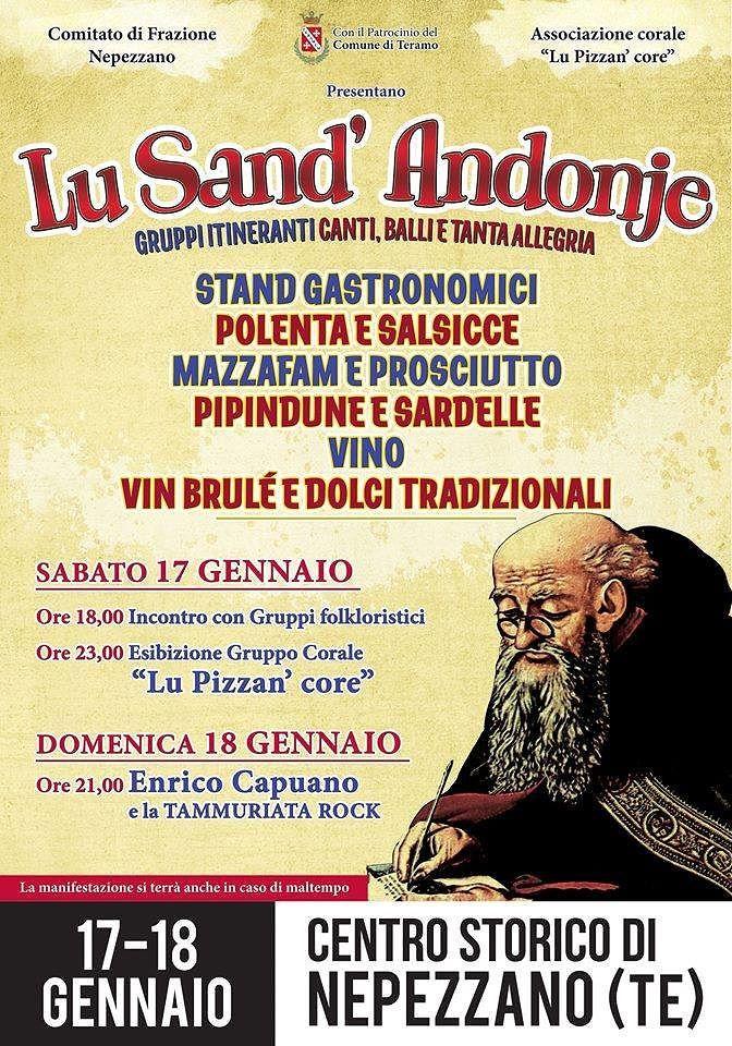 """Teramo, due giorni di festa per """"Lu Sand'Andonje"""" a Nepezzano"""