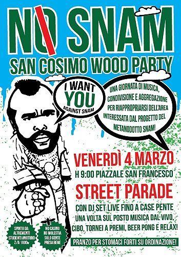 Sulmona, il giorno di San Cosimo diventa No Snam