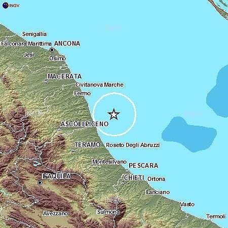 Terremoto a largo di San Benedetto: trema la Vibrata e la costa teramana