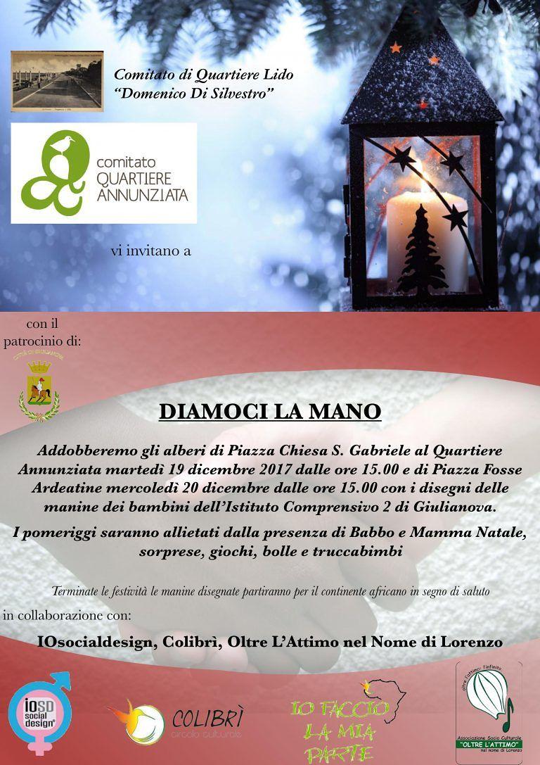 Giulianova, Comitati di quartiere addobbano l'albero dell'Annunziata e del Lido con i bambini