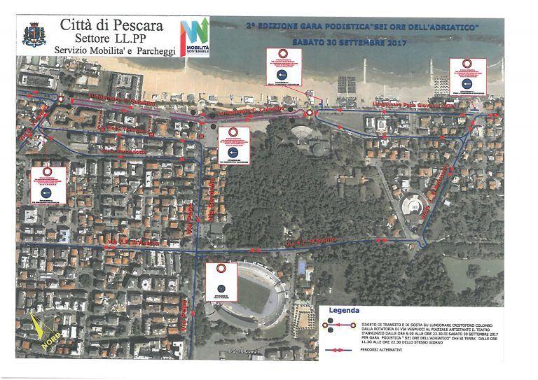 Pescara, al via la gara '6 ore dell'Adriatico': lungomare chiuso al traffico