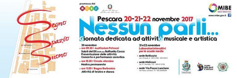 Pescara, 'Nessun parli…': musica e arte con gli studenti del Mibe