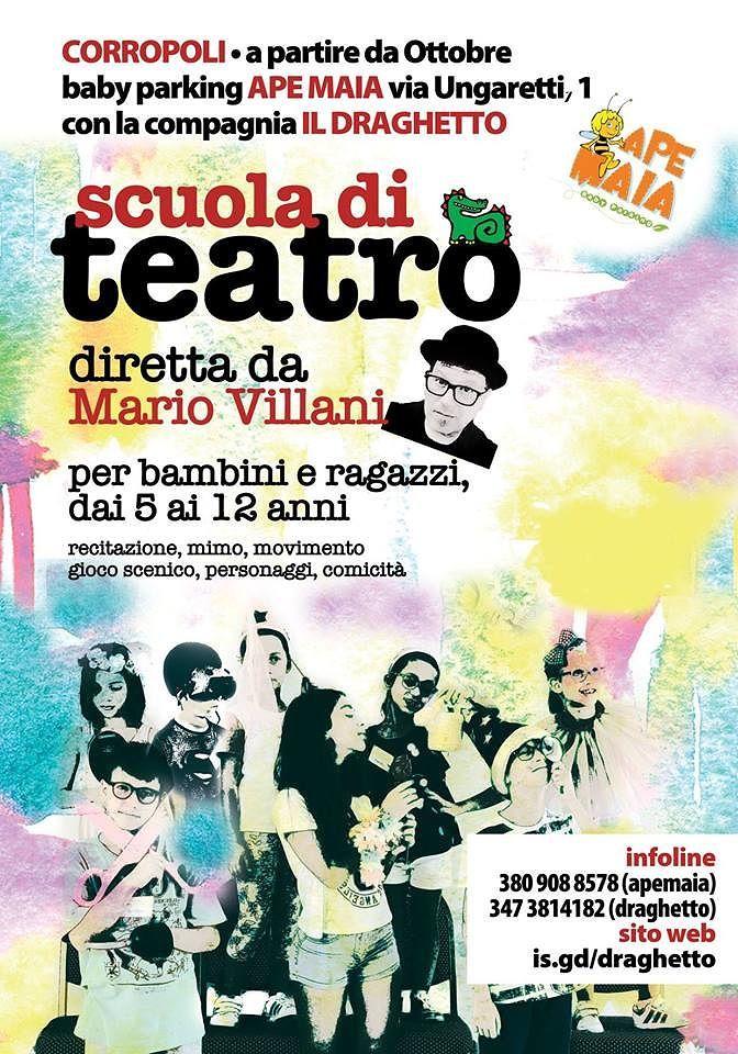 Scuola di teatro diretta da Mario Villani per bambini dai 5 ai 12 anni| Corropoli