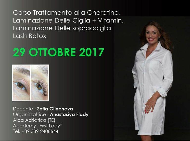 First Lady Academy: 29 ottobre Corso per il trattamento alla cheratina  Alba Adriatica
