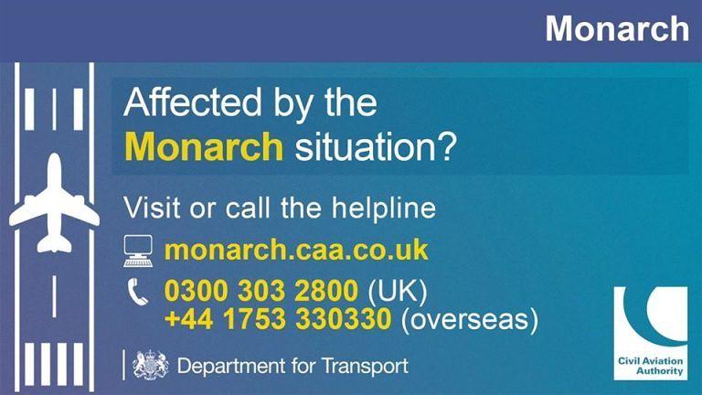 Fallimento Monarch Airlines: annullate 300.000 prenotazioni