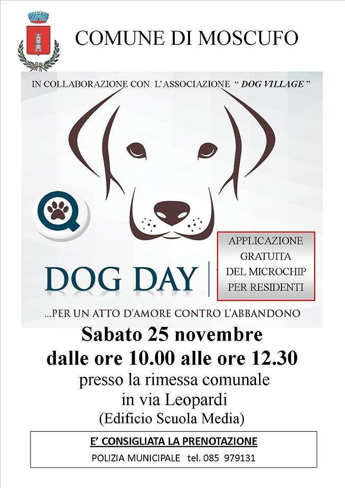 Moscufo, microchip gratuiti ai cani del paese