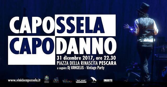 Pescara, Capodanno: Piazza Salotto si scalda per Vinicio Capossela ed Ermal Meta