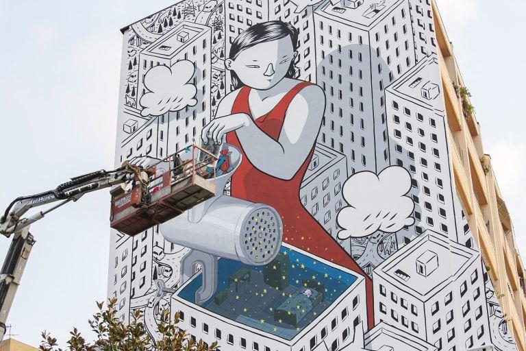 Pescara, Fontanelle: finito il murales di Millo