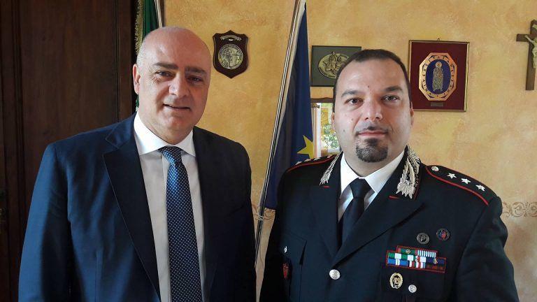 Avezzano, il sindaco riceve il nuovo comandante dei carabinieri