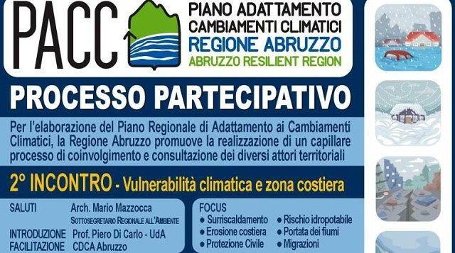 Cambiamenti climatici, a Vasto secondo incontro percorso partecipativo Pacc Abruzzo