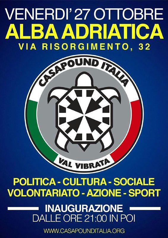 Alba Adriatica, apre la sede di CasaPound
