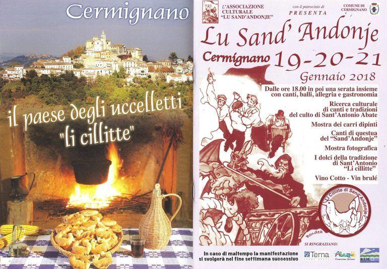 Cermignano, tre giorni di festa per Lu Sand'Andonje