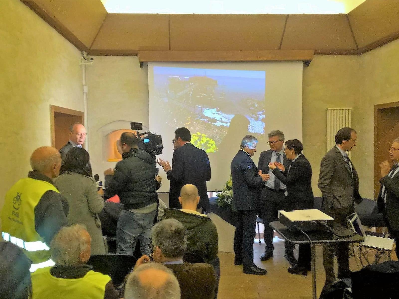 """Ciclovia Adriatica: il percorso """"riparte"""" da Martinsicuro VIDEO"""
