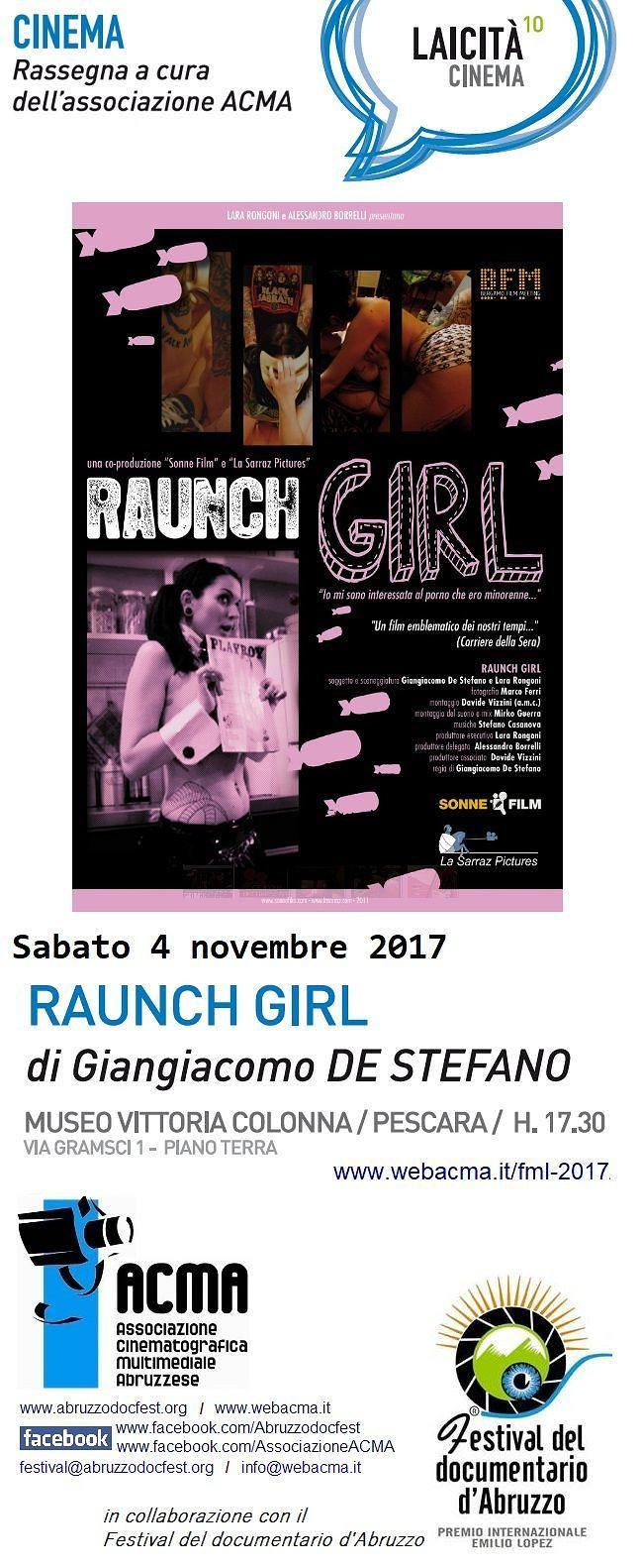 Pescara, rassegna Laicità Cinema: il film 'Raunch girl'