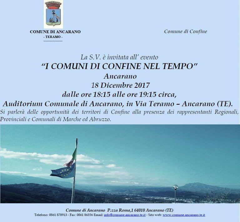 Comuni di confine: convegno ad Ancarano con gli amministratori di Abruzzo e Marche