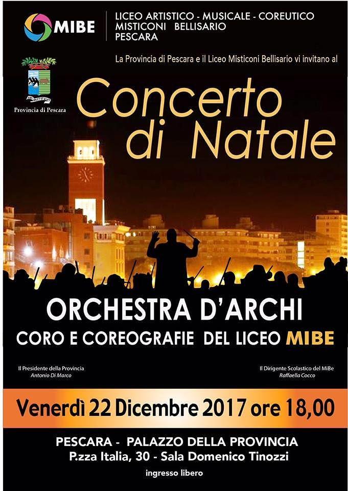 L'orchestra d'Archi del MiBe dedica un concerto alla Provincia di Pescara