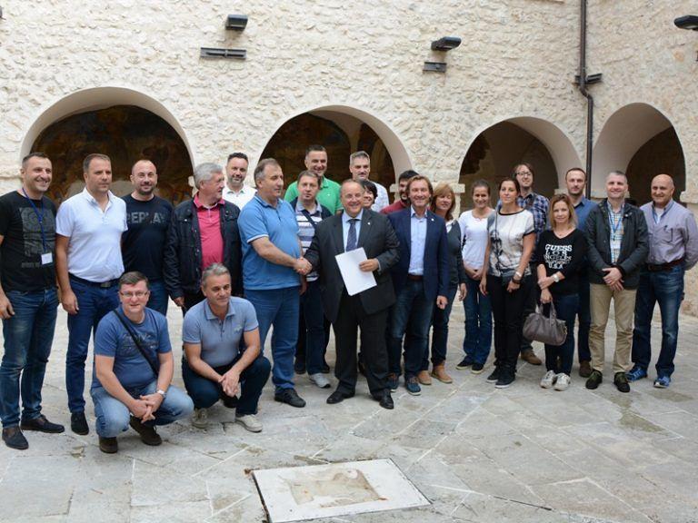 Delegazione Serba in visita al Parco Nazionale del Gran Sasso e Monti della Laga