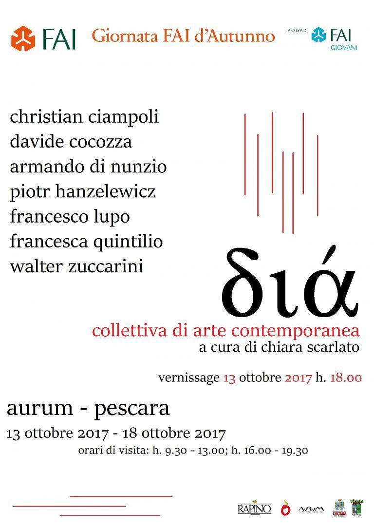 Pescara, Giornata d'autunno Fai: mostra d'arte all'Aurum