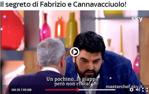 """Masterchef: Cannavacciuolo """"ruba"""" il segreto al pescarese Fabrizio VIDEO"""