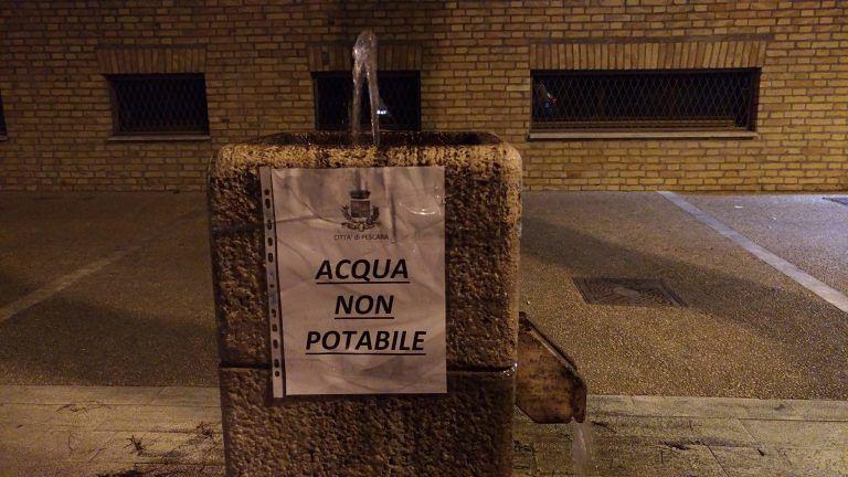 Pescara, emesse due nuove ordinanze che limitano l'uso di acqua
