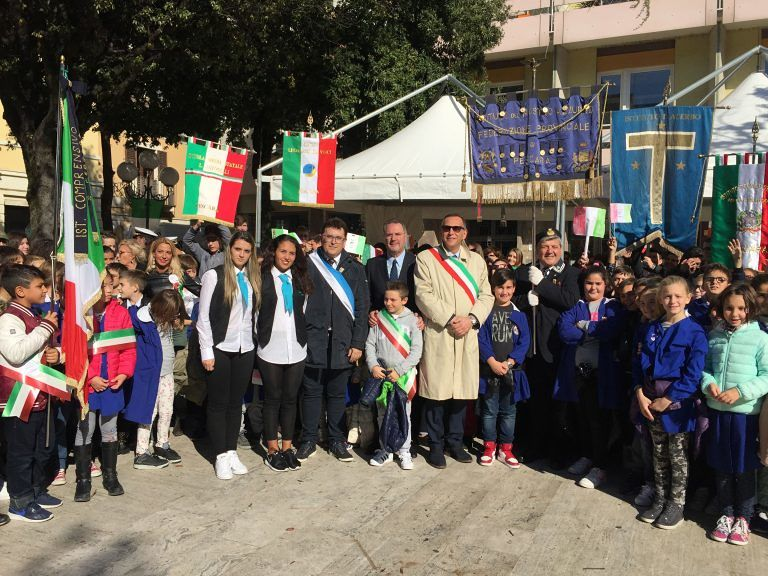 Pescara, in piazza Garibaldi le celebrazioni per il 4 Novembre