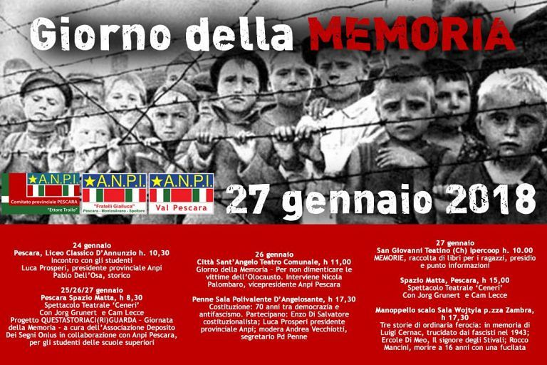 Pescara, Giorno della memoria: le iniziative di Anpi