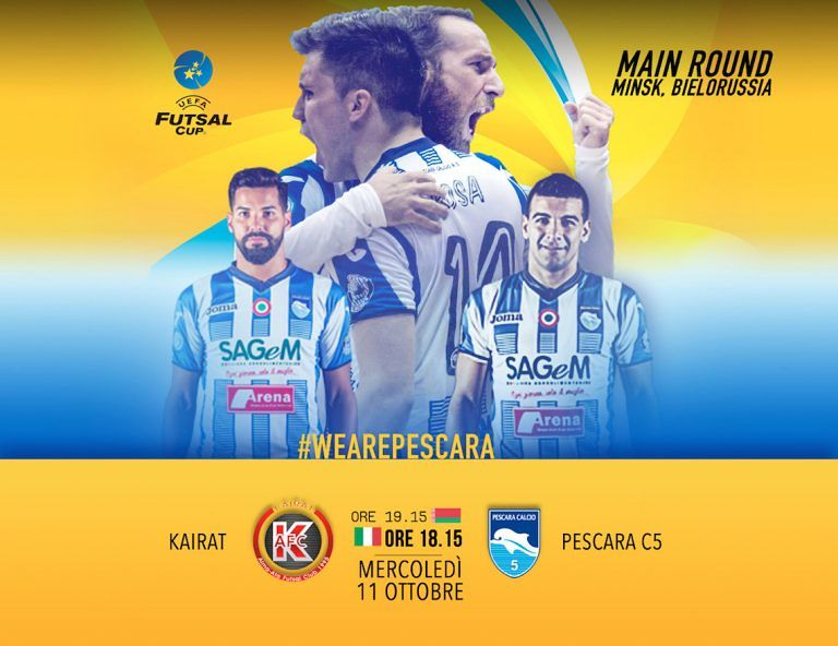 Calcio a 5, Pescara pronto alla missione Futsal Cup in Bielorussia