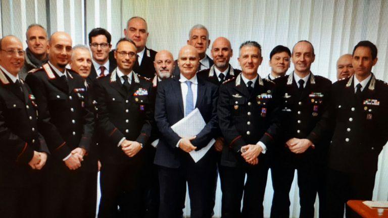 Teramo, il procuratore Guerriero fa visita al comando provinciale dei carabinieri