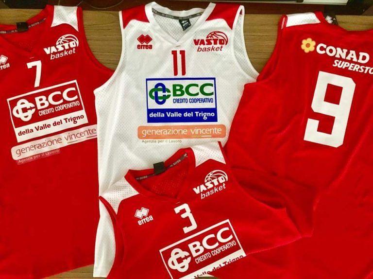 Sunrise Sport: anche quest'anno distributore ufficiale Errea del Vasto Basket|Giulianova