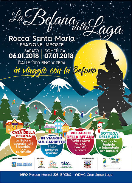 "Rocca Santa Maria, la ""Befana della Laga"" protagonista nel weekend dell'Epifania"