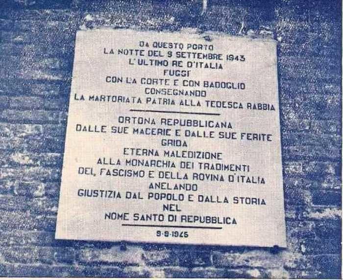 Vittorio Emanuele III in Italia, Brigata Maiella: 'non dimentichiamo'