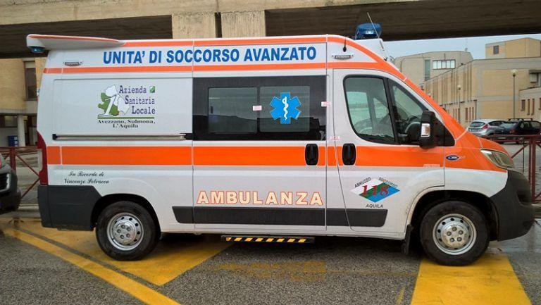 L'Aquila, 7 nuove ambulanze per il 118 con disposivito di auto-sanificazione FOTO