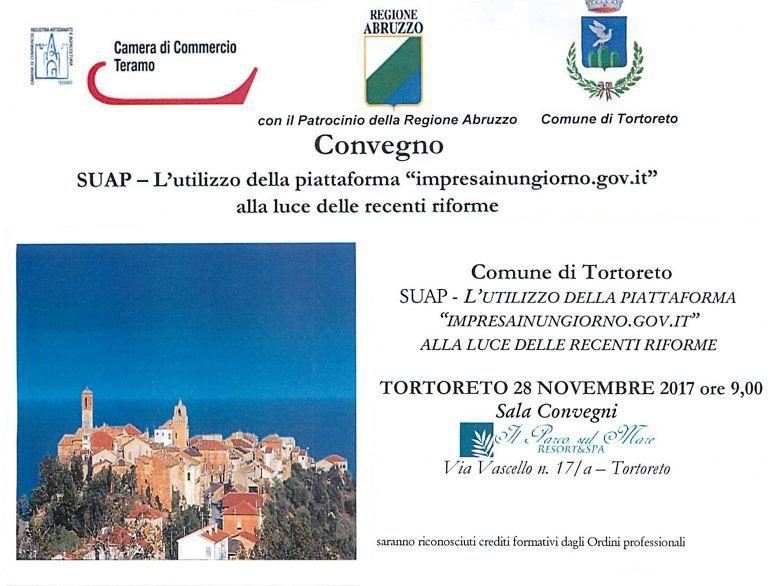 """Utilizzo della piattaforma """"impresainungiorno"""": convegno-formativo a Tortoreto"""