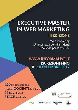 Chieti, al via la terza edizione di executive master web marketing