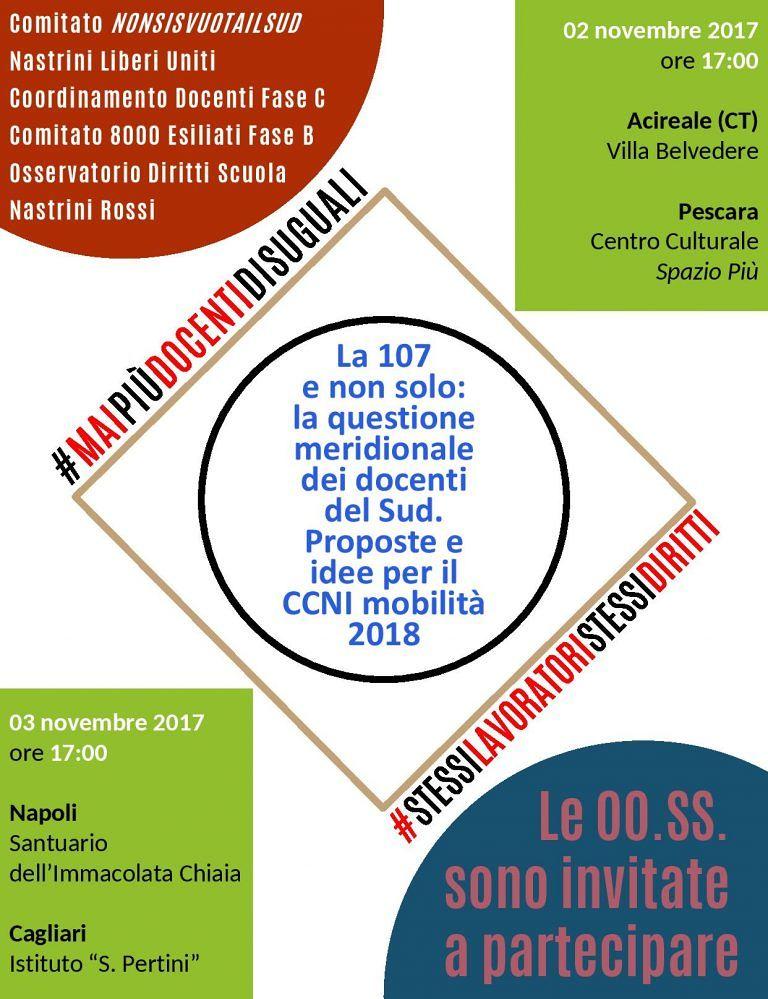 Pescara, i docenti esiliati incontrano i sindacati per discutere della Legge 107