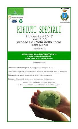 Rifiuti speciali: un seminario a San Salvo