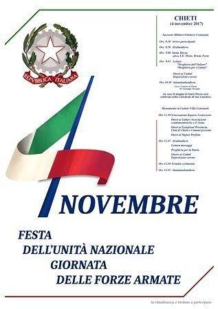 Chieti, il programma istituzionale della celebrazione del 4 novembre