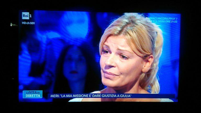 """Tortoreto, la mamma di Giulia a """"La vita in diretta"""": """"Si faccia giustizia"""""""