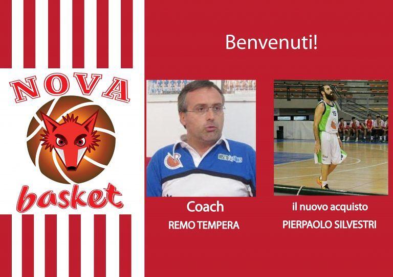 Campionato serie C Silver, Remo Tempera alla guida della Nova Basket. Ingaggiato Silveri