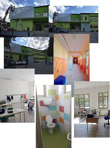 Tossicia, inaugurazione della scuola con Carlo Conti e Gabriele Cirilli VIDEO