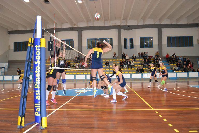 Pallavolo, terza vittoria consecutiva per l'Asi Pineto: 3-0 al Cus L'Aquila
