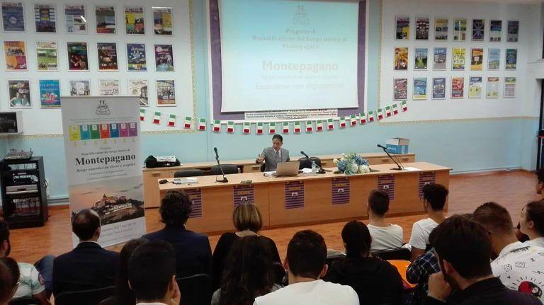 Roseto, l'Istituto Moretti presenta il progetto di valorizzazione di Montepagano (FOTO)