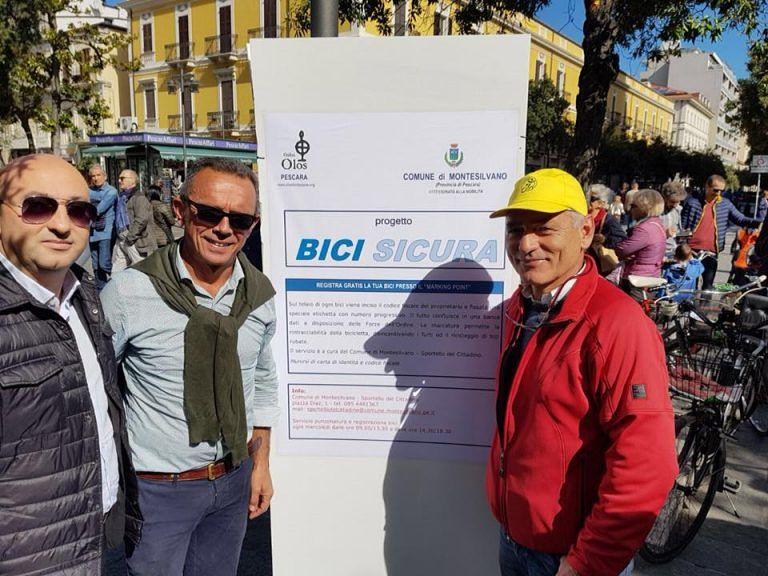 "Pescara, marchiate 430 bici grazie a ""Bici Sicura Montesilvano"""
